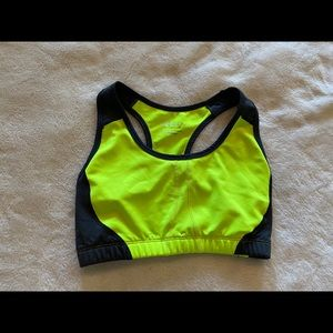 Other - neon green and grey sports bra